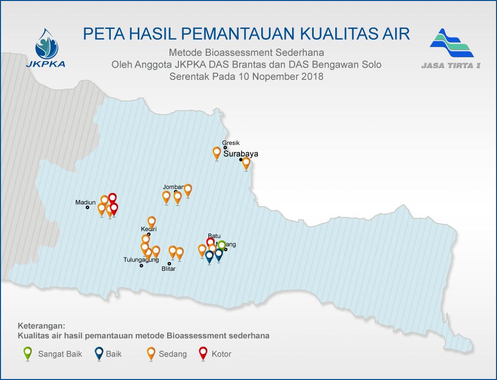 Peta Bioassessment Pantas Air JKPKA 2018